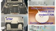 MacBook Pro 13inch 2016 model:A1706 Battery exchange